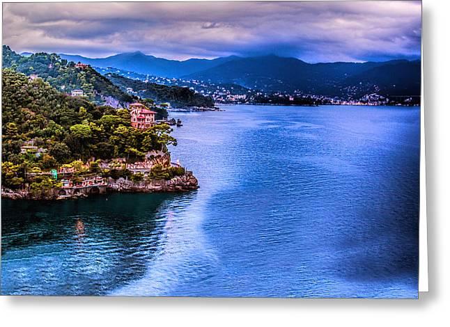 Portofino Italy Greeting Cards - Portofino Italy 40 x 40 3 of 3 Greeting Card by Paul James