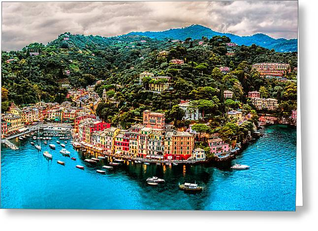 Portofino Italy Greeting Cards - Portofino Italy 40 x 60 Greeting Card by Paul James
