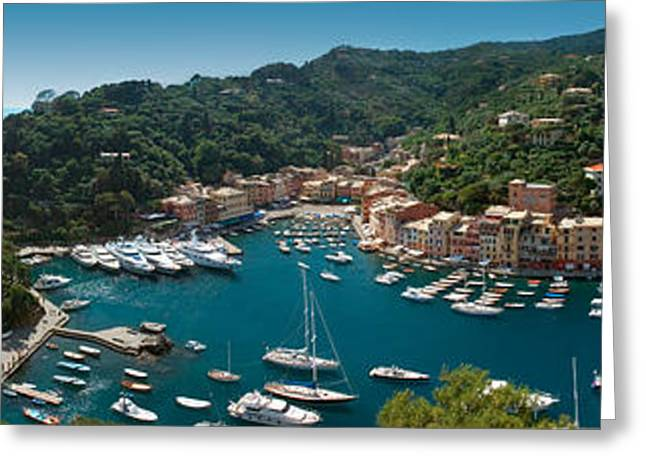 Aquatic Greeting Cards - Portofino Italy Greeting Card by Al Hurley