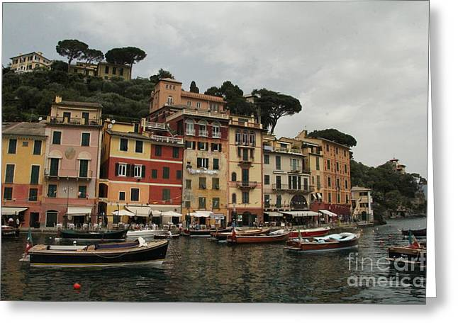 Portofino Italy Greeting Cards - Portofino Italy  Greeting Card by Diane  Greco-Lesser