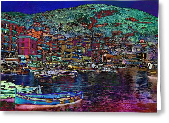 Portofino Italy Digital Greeting Cards - Portofino on the Italian Riviera Greeting Card by Sandra Selle Rodriguez