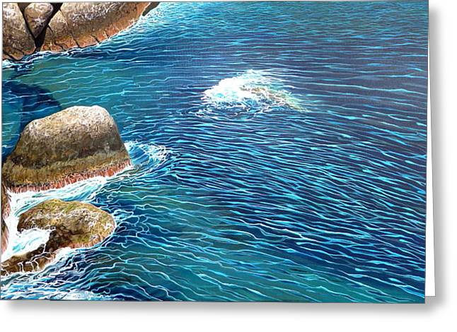 Portofino Italy Paintings Greeting Cards - Portofino Sea Greeting Card by Hunter Jay