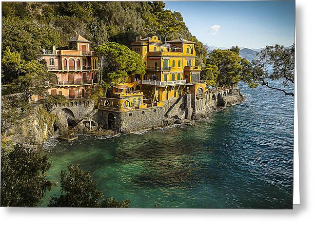 Portofino Italy Art Greeting Cards - Portofino Greeting Card by William Lax