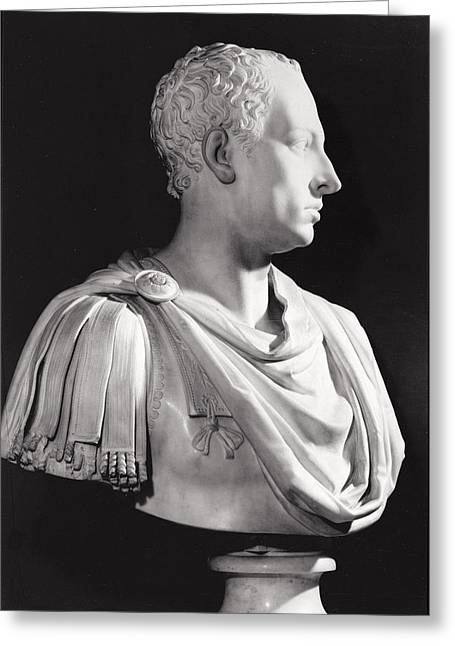 Breastplate Greeting Cards - Portrait Bust Of Francis I 1708-65, Holy Roman Emperor Marble Greeting Card by Antonio Canova