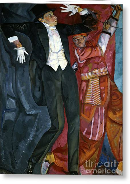 Strength Paintings Greeting Cards - Portrait director Vsevolod Meyerhold Greeting Card by Celestial Images