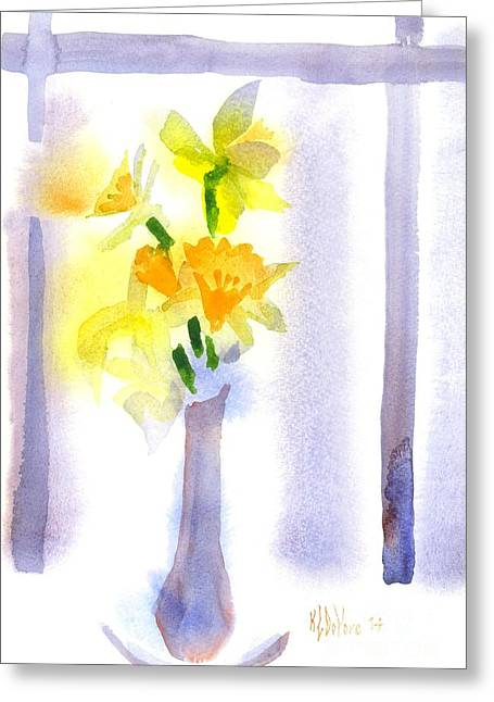 Luminescent Greeting Cards - Portrait in the Window Greeting Card by Kip DeVore