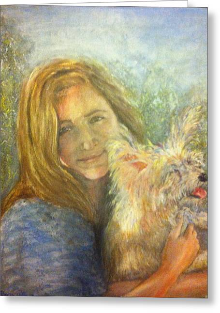 Sherry Davis Greeting Cards - Portrait L and B Greeting Card by Sherry Davis
