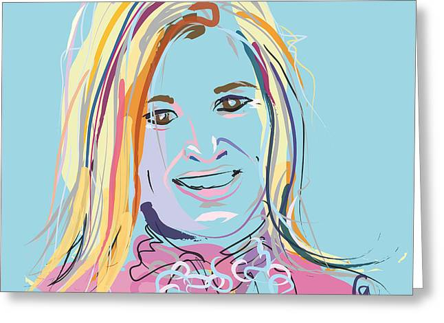 Celeb Greeting Cards - Portrait Maxima Greeting Card by Go Van Kampen