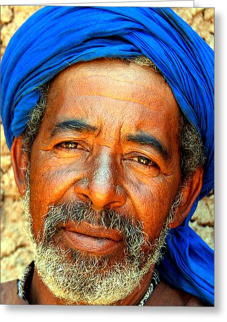 Berber Man Greeting Cards - Portrait Of A Berber Man  Greeting Card by Ralph A  Ledergerber-Photography