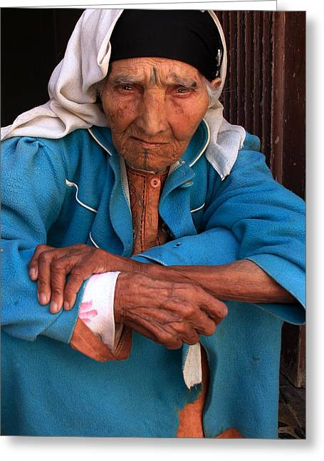 Northern Africa Greeting Cards - Portrait Of A Berber Woman Greeting Card by Ralph A  Ledergerber-Photography