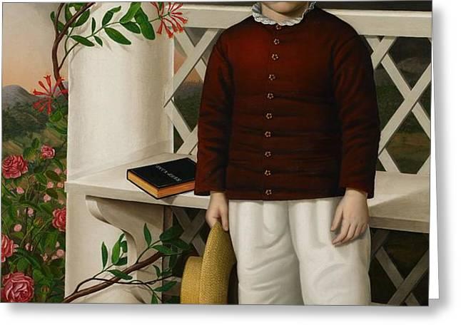 Portrait of a Boy Greeting Card by James B Read