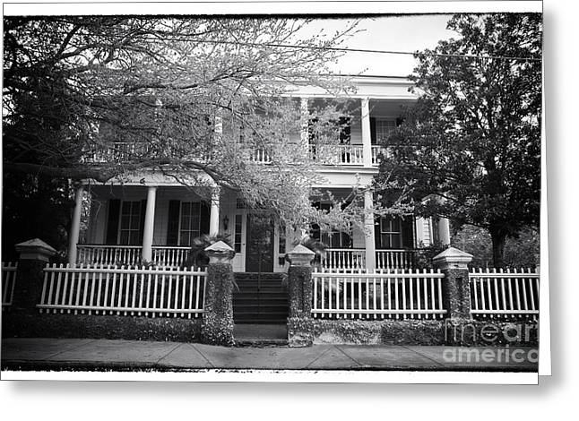 Old School House Greeting Cards - Portrait of a Charleston House Greeting Card by John Rizzuto