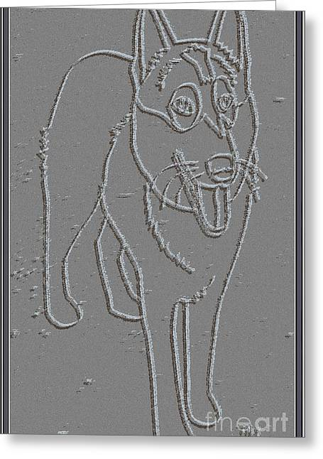 Dogs Digital Art Greeting Cards - Portrait of a Friend POAF00000001 Greeting Card by Pemaro