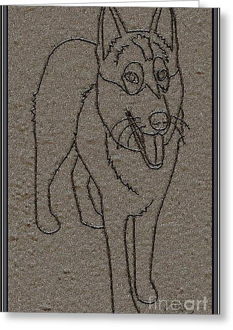 Dogs Digital Art Greeting Cards - Portrait of a Friend POAF01 Greeting Card by Pemaro