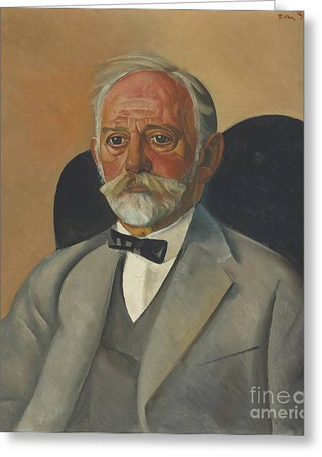 Strength Paintings Greeting Cards - Portrait Of A Gentleman Greeting Card by Celestial Images