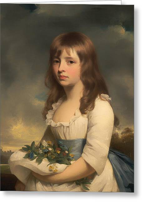 Portrait Of A Girl Greeting Card by Mountain Dreams