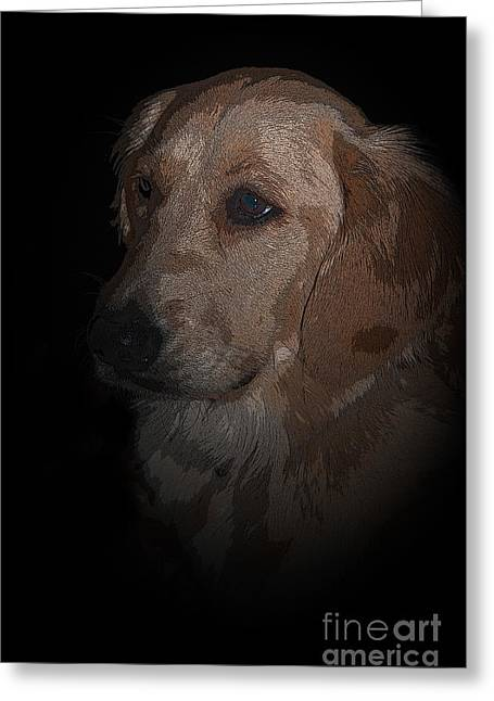 Portrait Of A Golden Greeting Card by Bianca Nadeau