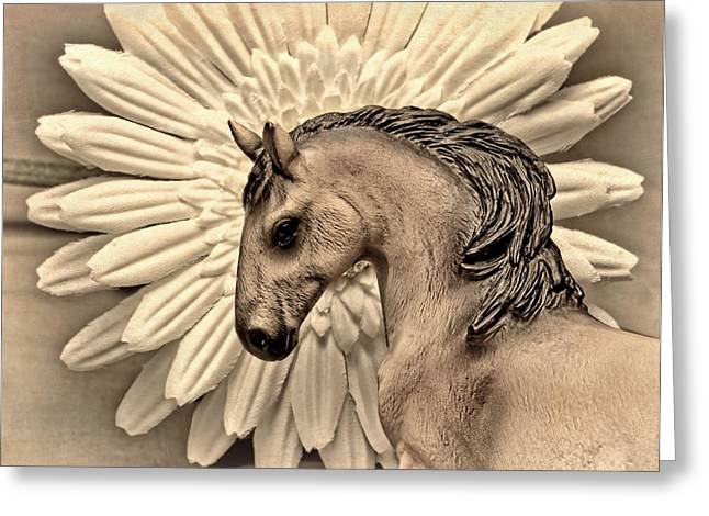 Domestic Digital Greeting Cards - Portrait Of A Horse Greeting Card by Jeff  Gettis