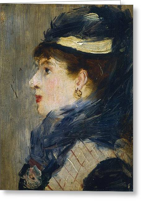 Lady Washington Greeting Cards - Portrait of a Lady Greeting Card by Edouard Manet