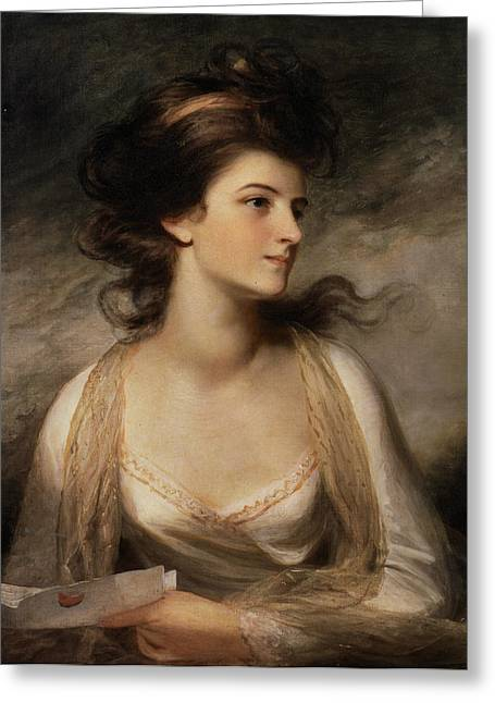 Reading Images Greeting Cards - Portrait Of A Lady Greeting Card by John Hoppnet