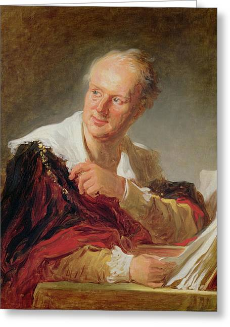 Distinguished Greeting Cards - Portrait Of A Man, C.1769 Oil On Canvas Greeting Card by Jean-Honore Fragonard