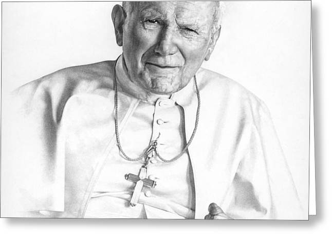 Portrait of a Saint Greeting Card by Smith Catholic Art