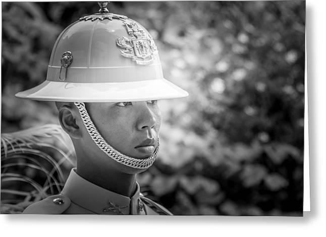 Asien Greeting Cards - Portrait of a Soldier of the Royal Guard - Grand Palace Bangkok  Greeting Card by Colin Utz