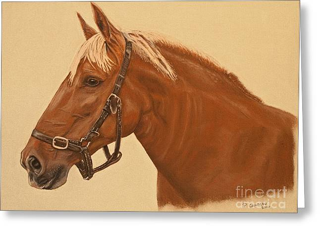 Punch Pastels Greeting Cards - Portrait Of A Suffolk Punch Greeting Card by Peter Chapman
