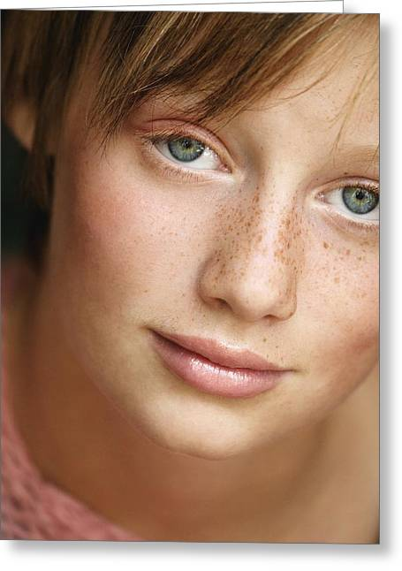 Preteen Greeting Cards - Portrait Of A Teenage Girl Greeting Card by Don Hammond