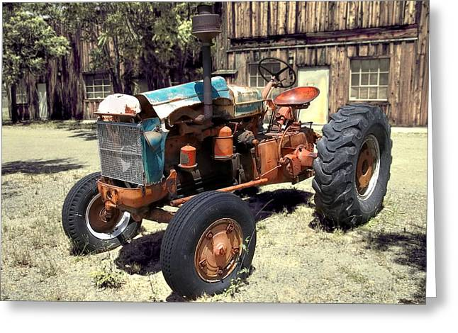 Steering Greeting Cards - Portrait of a Tractor Greeting Card by Glenn McCarthy Art and Photography