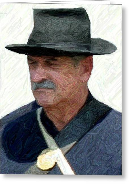 150th Commemoration Greeting Cards - Portrait of a Union Soldier - Richmond KY Greeting Card by Thia Stover