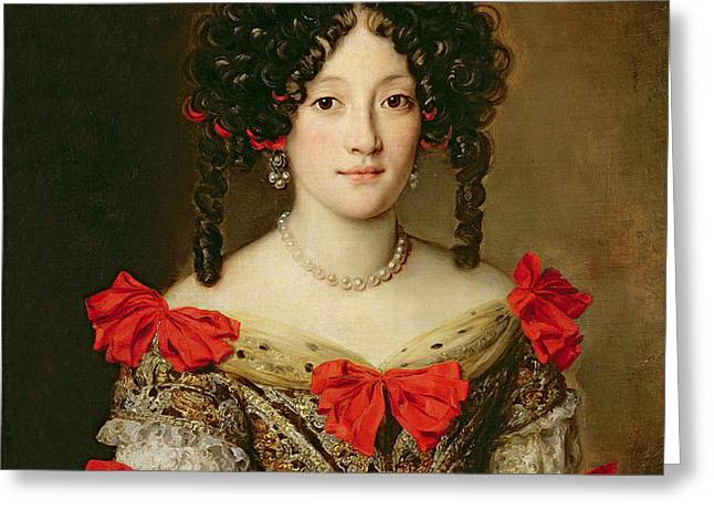 Portrait of a Woman Greeting Card by Jacob Ferdinand Voet