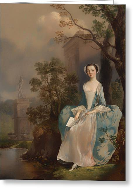Wood Castle Greeting Cards - Portrait of a Woman Greeting Card by Thomas Gainsborough