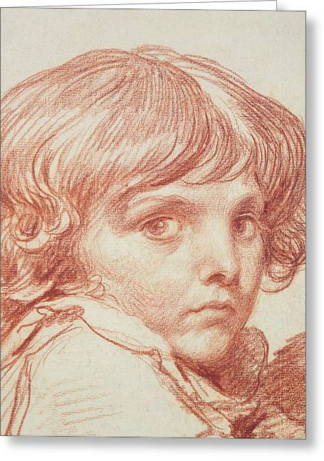 Portrait Of A Young Boy Greeting Cards - Portrait of a Young Boy Greeting Card by Claude Lorrain