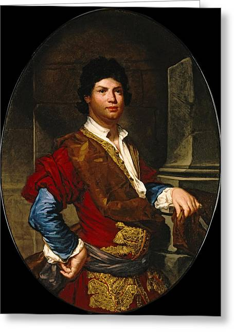 Fra Greeting Cards - Portrait of a Young Man as a Gentleman Greeting Card by Fra Galgario