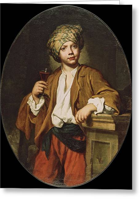 Fra Greeting Cards - Portrait of a Young Man with a Turban Greeting Card by Fra Galgario
