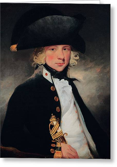 Sailor Hat Greeting Cards - Portrait Of A Young Midshipman, C.1796 Greeting Card by Sir William Beechey