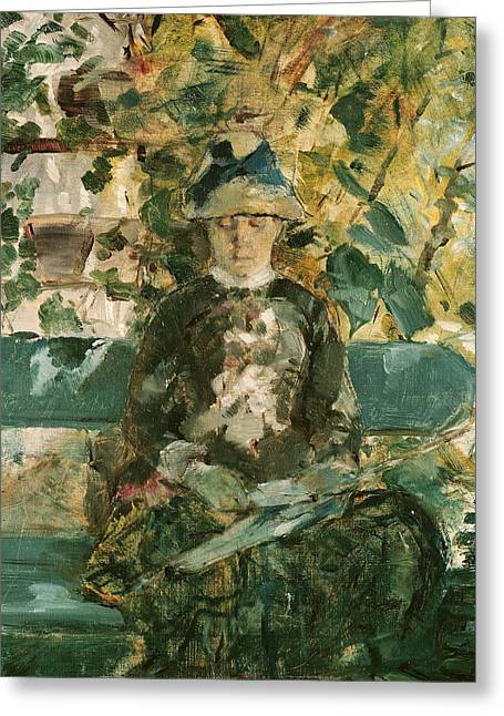 Shade Greeting Cards - Portrait of Adele Tapie de Celeyran Greeting Card by Henri de Toulouse-Lautrec