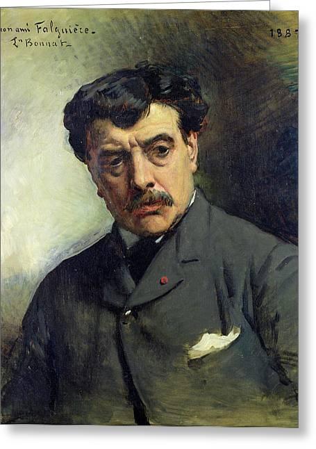 Sculptors Greeting Cards - Portrait Of Alexander Falguiere 1831-1900 1887 Oil On Canvas Greeting Card by Leon Joseph Florentin Bonnat