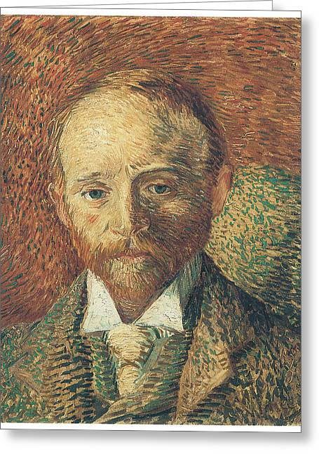 Portriats Greeting Cards - Portrait of Alexander Reid Greeting Card by Vincent Van Gogh