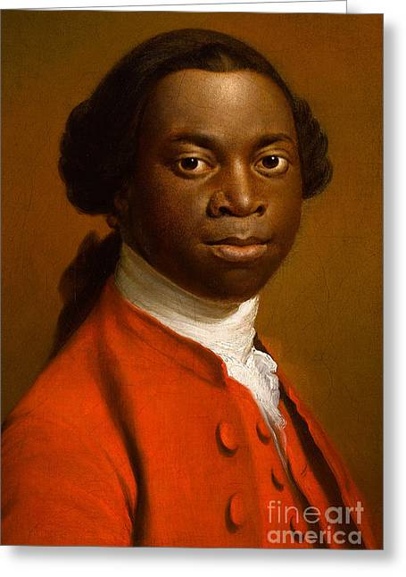 Abolitionist Paintings Greeting Cards - Portrait of an African Greeting Card by Allan Ramsay