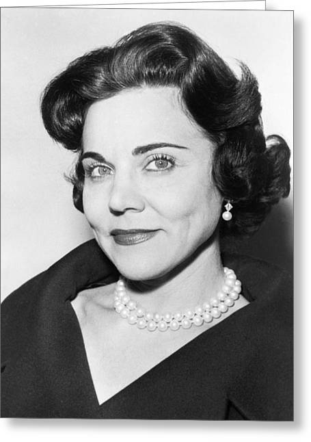 Portrait Of Ann Landers Greeting Card by Fred Palumbo