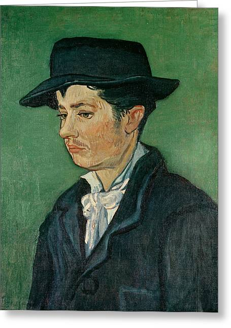 Post-impressionism Greeting Cards - Portrait Of Armand Roulin, 1888 Oil On Canvas Greeting Card by Vincent van Gogh