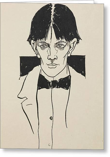 Portrait Of Aubrey Beardsley Greeting Card by British Library
