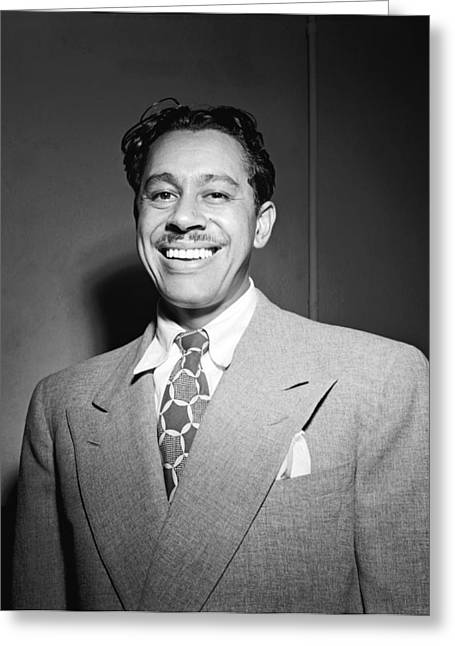 Bandleader Greeting Cards - Portrait Of Cab Calloway Greeting Card by William Gottlieb