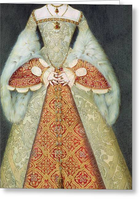 Royalty Greeting Cards - Portrait Of Catherine Parr , 1545 Greeting Card by Master John