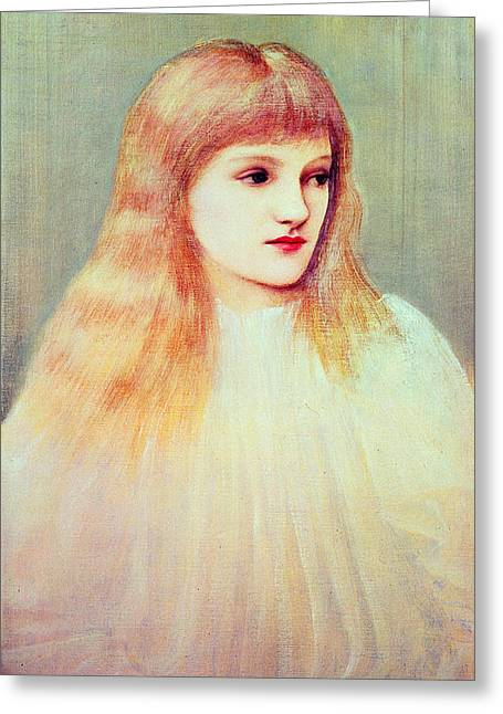 Burne Greeting Cards - Portrait Of Cecily Horner, 1895 Greeting Card by Sir Edward Coley Burne-Jones