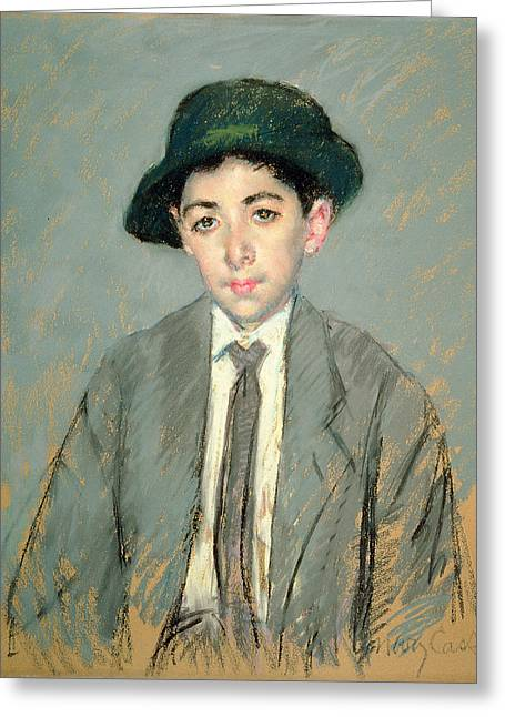 Cassatt Paintings Greeting Cards - Portrait of Charles Dikran Kelekian Greeting Card by Mary Stevenson Cassatt