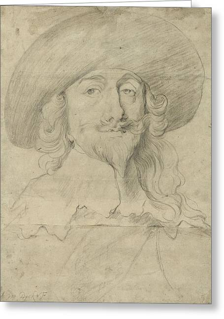 Royalty Greeting Cards - Portrait Of Charles I Greeting Card by Sir Anthony van Dyck