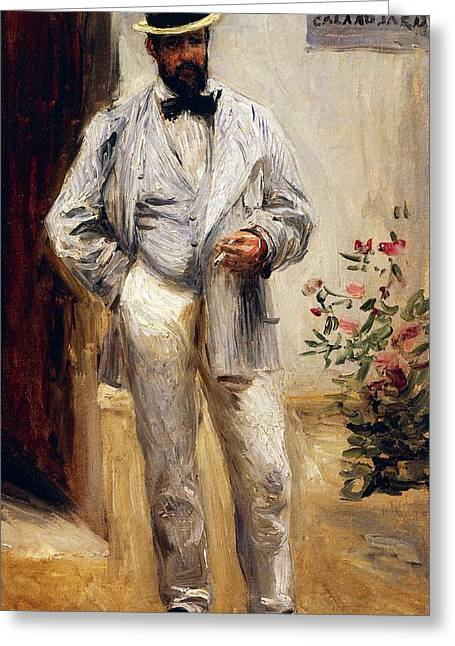Art Reproduction Greeting Cards - Portrait of Charles Le Coeur Greeting Card by Pierre-Auguste Renoir